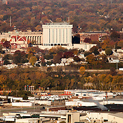 View of Wyandotte County, Kansas City Kansas; taken from top of Power and Light Building in Kansas City, Missouri.
