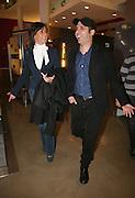 Foto di Donato Fasano Photoagency, nella foto : Checcozalone Luca Medici alla presentazione del film a Bari il 27 11 2009 titolo film cado dalle nubi con la ragazza Mariangela