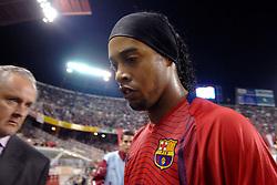 03-03-2007 VOETBAL: SEVILLA FC - BARCELONA: SEVILLA  <br /> Sevilla wint de topper met Barcelona met 2-1 / Ronaldinho de Assis Moreira<br /> ©2007-WWW.FOTOHOOGENDOORN.NL
