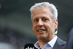 05.10.2013, Borussia Park, Moenchengladbach, GER, 1. FBL, Borussia Moenchengladbach vs Borussia Dortmund, 8. Runde, im Bild Trainer Lucien Favre (Borussia Moenchengladbach), // during the German Bundesliga 8th round match between Borussia Moenchengladbach and Borussia Dortmund at the Borussia Park, Moenchengladbach, Germany on 2013/10/05. EXPA Pictures © 2013, PhotoCredit: EXPA/ Eibner/ Joerg Schueler<br /> <br /> ***** ATTENTION - OUT OF GER *****