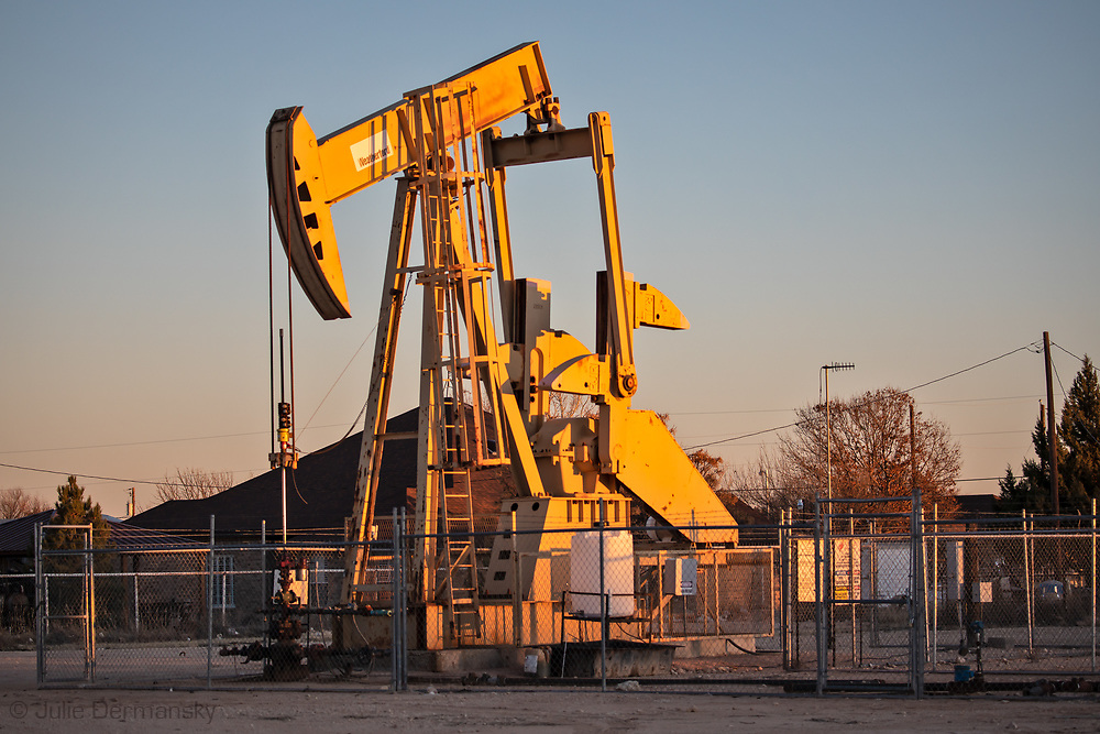 Pump jacks in Odessa, Texas in the Permian Basin.
