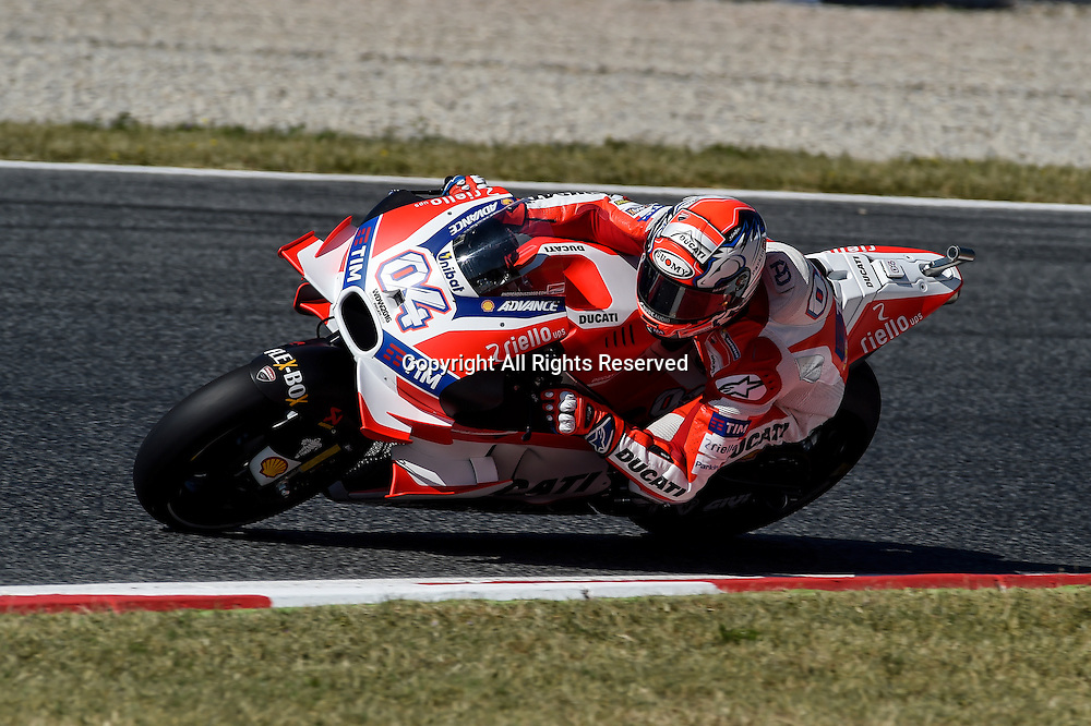 03.06.2016. Circuit de Barcelona, Barcelona,Spain. Grand Prix Monster Energy de Catalunya. Practice day. Andrea Dovizioso (Ducati TEam) during the free practice sessions.