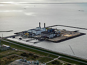 Nederland, Oostelijk Flevoland, 16-04-2012; Fleovocentrale. Houtribdijk en IJsselmeer in de achtergrond...QQQ.luchtfoto (toeslag), aerial photo (additional fee required).foto/photo Siebe Swart