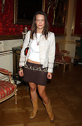 ARABELLA MUSGRAVE at a fashion show featuring the Miss Selfridge Autumn/Winter '05 collections held at The Wallace Collection, Manchester Square, London W1 on 6th April 2005.<br />