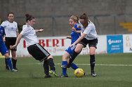 Farmington's Cheryl Kilcoyne battles for the ball - Forfar Farmington v Glasgow Girls in the SWPL 2 at Station Park, Forfar, Photo: David Young<br /> <br />  - &copy; David Young - www.davidyoungphoto.co.uk - email: davidyoungphoto@gmail.com