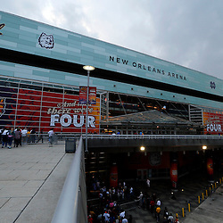 Apr 9, 2013; New Orleans, LA, USA; Exterior view of New Orleans Arena before the championship game in the 2013 NCAA womens Final Four between the Louisville Cardinals and the Connecticut Huskies. Mandatory Credit: Derick E. Hingle-USA TODAY Sports