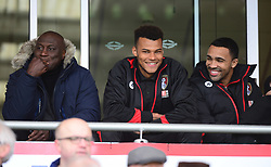 (center) Tyrone Mings of Bournemouth watches on from the stands.  - Mandatory by-line: Alex James/JMP - 11/03/2017 - FOOTBALL - Vitality Stadium - Bournemouth, England - Bournemouth v West Ham United - Premier League