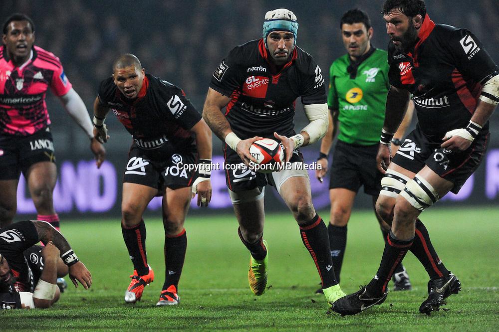 Juan Leguizamon - 02.01.2015 - Lyon OU / Stade Francais - 15eme journee de Top 14 <br />Photo : Jean Paul Thomas / Icon Sport