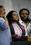 The Martin Luther King family at the March on Washington in August 27, 1983--the twentieth anniversary of the March on Washington in 1963...Photograph by Dennis Brack bb23