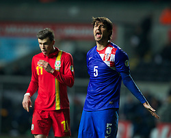 SWANSEA, WALES - Tuesday, March 26, 2013:  Croatia's Vedran Corluka during the 2014 FIFA World Cup Brazil Qualifying Group A match against Wales at the Liberty Stadium. (Pic by Kieran McManus/Propaganda)