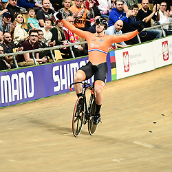 03-03-2019: WK wielrennen: Baan: Pruszkow<br />- 02/03/2019 - Cycling - UCI Track Cycling World Championships presented by Tissot - Velodrome BGZ Arena, Pruszkow, Poland -  Harry Lavreijssen world champion sprint