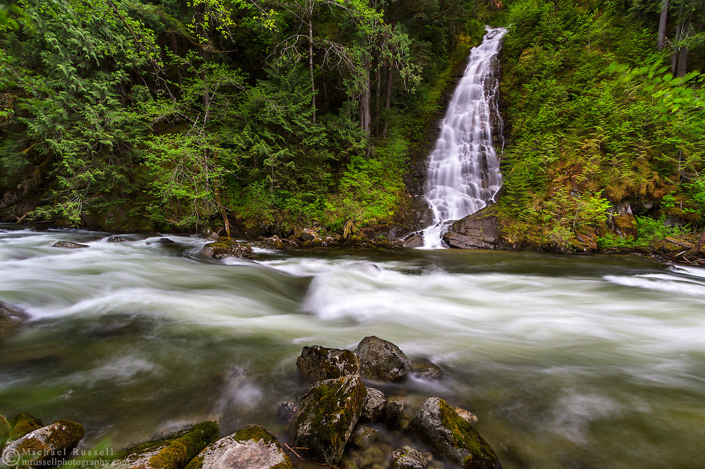 Eureka Falls and Silverhope Creek in the Skagit Valley near Hope, British Columbia, Canada