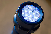 led (Light Emitting Diode) flashlight, switched on