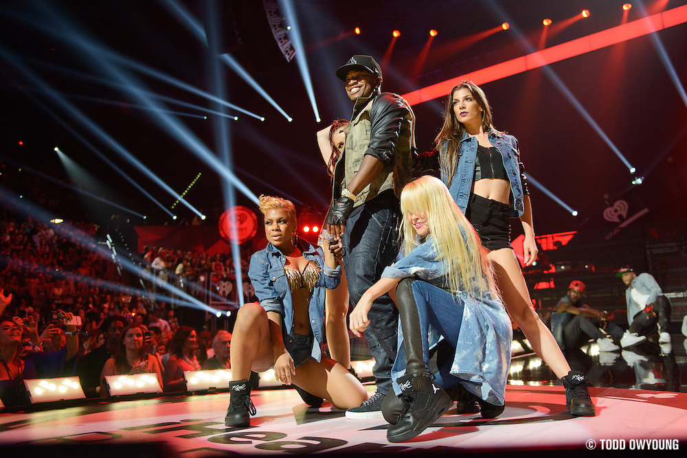 Ne-Yo performing at the iHeartRadio Music Festival in Las Vegas, Nevada on September 22, 2012.