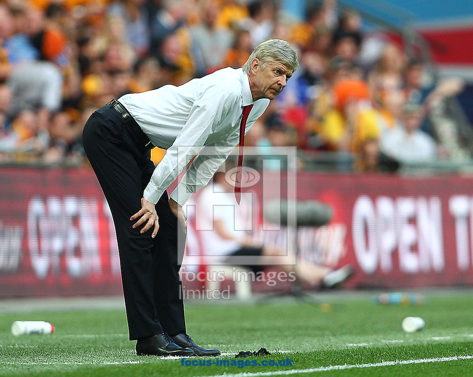 Arsene Wenger, Manager of Arsenal during the The FA Cup Final match at Wembley Stadium, London<br /> Picture by Paul Terry/Focus Images Ltd +44 7545 642257<br /> 17/05/2014