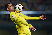 VILLARREAL, SPAIN - OCTOBER 24:  Bruno of Villarreal controls the ball during the La Liga match between Villarreal and Atletico de Madrid at El Madrigal on October 24, 2010 in Villarreal, Spain. Villarreal won 2-0.  (Photo by Manuel Queimadelos Alonso/Getty Images) *** Local Caption *** Bruno