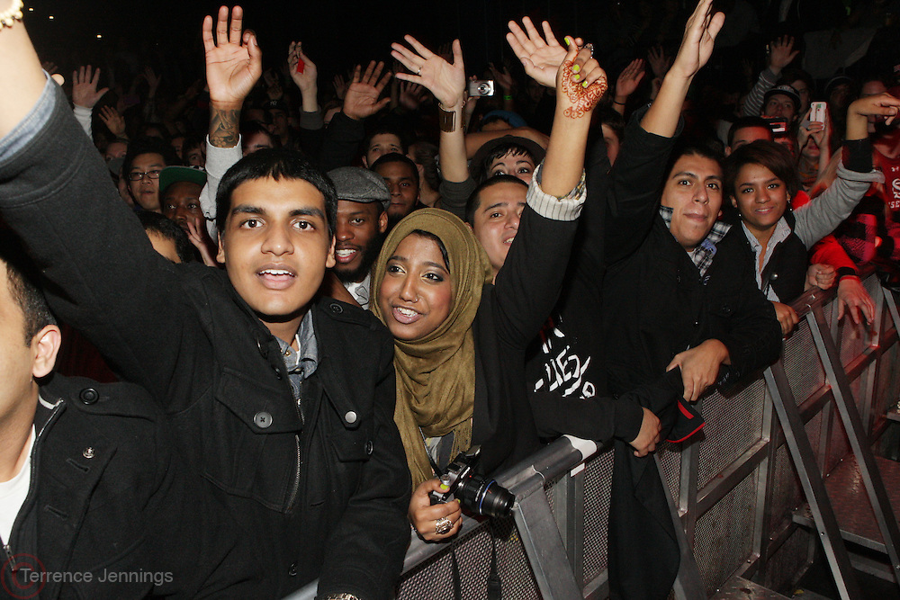 New York, NY- December 4:  Fans at the Black Star Concert held at the Best Buy Theater on December 4, 2011 in New York City. Photo Credit: Terrence Jennings