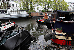 UK ENGLAND LONDON 2MAY16 - Detail of London Canal boats fender and mooring at Little Venice, Maida Vale, west London.<br /> <br /> jre/Photo by Jiri Rezac<br /> <br /> © Jiri Rezac 2016