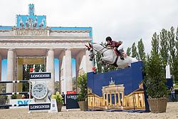Springsteen, Jessica (USA) Cynar v.<br /> Berlin - Global Jumping Berlin 2017<br /> © www.sportfotos-lafrentz.de/Stefan Lafrentz