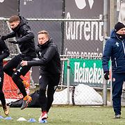NLD/Rotterdam/20180301 - Training Feyenoord voor de bekerfinale, Dylan Vente, Bart Nieuwkoop en Sam Larsson