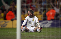 Photo: Rich Eaton.<br /> <br /> Leeds United v Watford. Coca Cola Championship. Play off Final. 21/05/2006.<br /> <br /> A dejected Shaun Derry from Leeds sitting on the pitch immediately after giving away a penalty tackling Marlon King