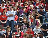 Ole Miss fan at Reynolds Razorback Stadium in Fayetteville, Ark. on Saturday, October 23, 2010.