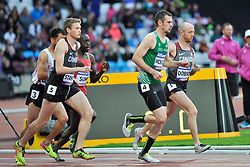 22/07/2017 : Michael McKillop (IRL), Liam Stanley (CAN), Jonathan Sum (KEN), Shayne Dobson (CAN), T37, Men's 1500m, Final, at the 2017 World Para Athletics Championships, Olympic Stadium, London, United Kingdom