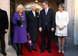 14.03.2016, Zagreb, CRO, der Britische Kronprinz Charles und seine Frau Camilla besuchen Kroatien, im Bild British Crown Prince Charles and his wife Camilla, the Duchess of Cornwall, are visiting Croatia as part of a regional tour that will include Serbia, Montenegro and Kosovo. They visited the historic Upper Town and restoration of buildings that were damaged during bombing in 1991. Prime Minister Tihomir Oreskovic and his wife Sanja. EXPA Pictures © 2016, PhotoCredit: EXPA/ Pixsell/ Robert Anic<br /> <br /> *****ATTENTION - for AUT, SLO, SUI, SWE, ITA, FRA only*****