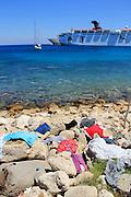 Am Hafen von Rhodos. Rhodes port. Au port de Rhodes. © Romano P. Riedo