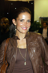 Model SOPHIE ANDERTON at the opening party of the new Frankie's Bar & Grill at Selfridges, Oxford Street, London on 6th September 2006.<br />