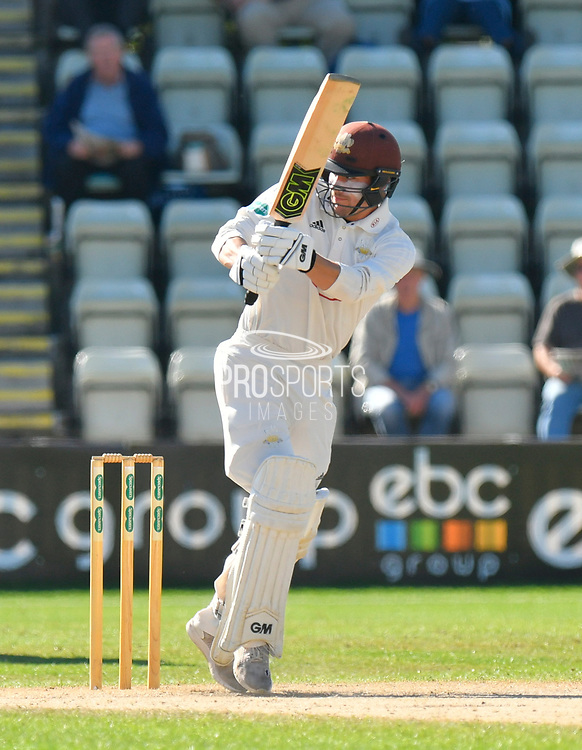 Rory Burns of Surrey batting during the final day of the Specsavers County Champ Div 1 match between Worcestershire County Cricket Club and Surrey County Cricket Club at New Road, Worcester, United Kingdom on 13 September 2018.