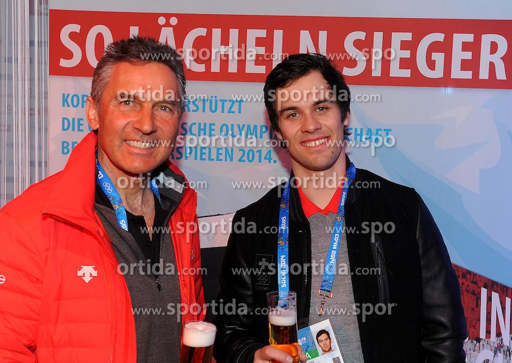 14.02.2014, Austria Tirol House, Krasnaya Polyana, RUS, Sochi, 2014, im Bild SANDRO VILETTA, WALTER HUBMANN // SANDRO VILETTA, WALTER HUBMANN during the Olympic Winter Games Sochi 2014 at the Austria Tirol House in Krasnaya Polyana, Russia on 2014/02/14. EXPA Pictures © 2014, PhotoCredit: EXPA/ Erich Spiess