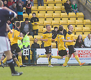 Mark McNulty celebrates his goal - Livingston v Dundee, IRN BRU Scottish Football League, First Division - ..© David Young - .5 Foundry Place - .Monifieth - .Angus - .DD5 4BB - .Tel: 07765 252616 - .email: davidyoungphoto@gmail.com.web: www.davidyoungphoto.co.uk