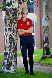 NEWPORT, WALES - Tuesday, August 28, 2018: Wales' captain Sophie Ingle during a media session at the Coldra Court Hotel ahead of the final FIFA Women's World Cup 2019 Qualifying Round Group 1 match against England. (Pic by David Rawcliffe/Propaganda)