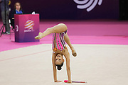 Dina Averina, Russia, during the 33rd European Rhythmic Gymnastics Championships at Papp Laszlo Budapest Sports Arena, Budapest, Hungary on 20 May 2017. Russia win team gold medal. Photo by Myriam Cawston.