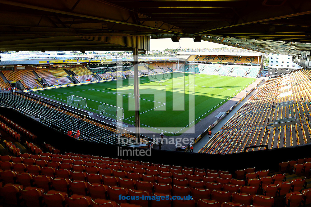 Carrow Road, Norwich, home to Norwich City Football Club before the Sky Bet Championship match against Blackburn Rovers.<br /> Picture by Richard Calver/Focus Images Ltd +447792 981244<br /> 19/08/2014
