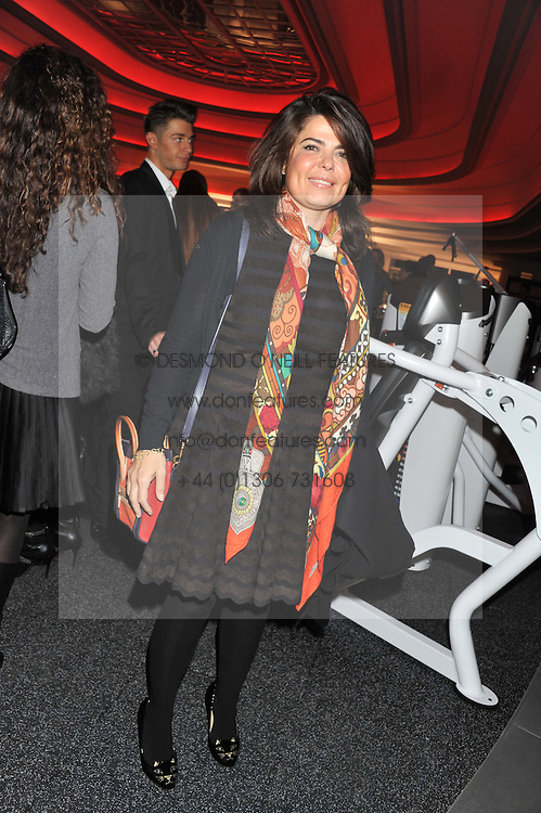 DANIELLA HELAYEL at the launch of famed American fitness club 'Equinox' 99 High Street Kensington, London on 23rd October 2012.