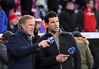 Fussball  DFB Pokal  Achtelfinale  2017/2018   FC Bayern Muenchen - Borussia Dortmund        20.12.2017 TV Experte Michael Ballack (re) mit ARD Reporter Gerhard Delling