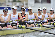 Henley, Great Britain.  The Rememham Challenge Cup. Leander Club and Gloucester RC.  Ro Bradbury,  Polly Swann, Jessica Eddie Victoria Thornley, Natasha Page, Louisa Reeve, Katie /GREVES/Solesbury ,   Henley Royal Regatta. River Thames Henley Reach.  Royal Regatta. River Thames Henley Reach.  Friday   01/07/2011  [Mandatory Credit Peter Spurrie r/ Intersport Images] 2011 Henley Royal Regatta. HOT. Great Britain . HRR