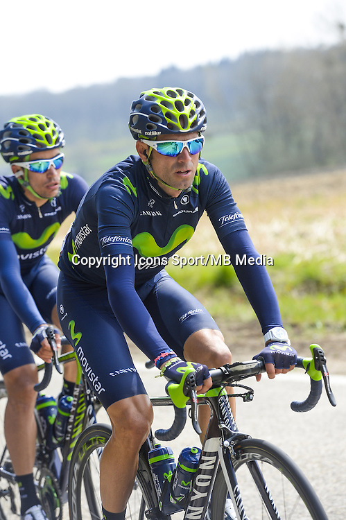 Valverde Alejandro - Movistar - 22.04.2015 - La Fleche Wallonne<br />Photo : Sirotti / Icon Sport<br />  *** Local Caption ***