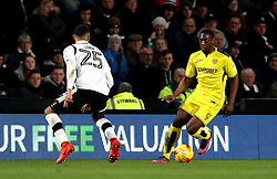 Marvin Sordell of Burton Albion takes on Max Lowe of Derby County - Mandatory by-line: Robbie Stephenson/JMP - 21/02/2017 - FOOTBALL - iPro Stadium - Derby, England - Derby County v Burton Albion - Sky Bet Championship