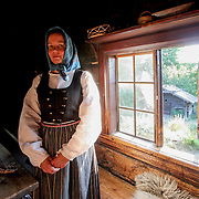 Swedish farmer's wife from 19th century, Stockholm, Sweden (August 2006)