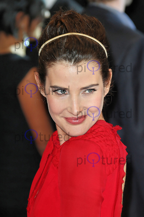 LONDON - APRIL 19: Cobie Smulders attends the European Film Premiere of 'Avengers Assemble' at the Westfield Shopping Centre, White City, London, UK. April 19, 2012. (Photo by Richard Goldschmidt)