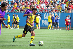 July 22, 2018 - Charlotte, North Carolina, USA - Borussia Dortmund midfielder Mahmoud Dahoud (19) during an International Champions Cup match at Bank of America Stadium in Charlotte, NC.  Borussia Dortmund of the German Bundesliga beat Liverpool of the English Premier League 3 to 1. (Credit Image: © Jason Walle via ZUMA Wire)