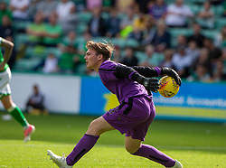Alloa Athletic's sub keeper Chris Henry. Hibernian 2 v 0 Alloa Athletic, Betfred Cup game played Saturday 20th July at Easter Road, Edinburgh.