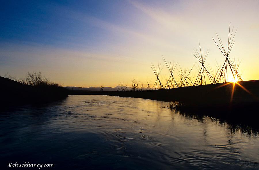 North Fork Big Hole River at Big Hole National Battlefield site near Wisdom, Montana, USA