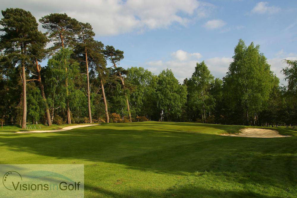 1st hole Woburn GC, Dukes course, England, UK <br /> <br /> Photo Mark Newcombe