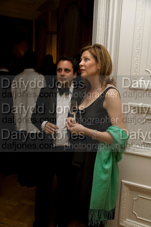 Jack Kirkland and Cynthia Taylor, Dinner at the Italian Embassy in which the winner of the MaxMara Art Prize ( in collaboration with the Whitechapel art gallery )for Women is announced. Grosvenor Sq. London. 29 January 2008.  -DO NOT ARCHIVE-© Copyright Photograph by Dafydd Jones. 248 Clapham Rd. London SW9 0PZ. Tel 0207 820 0771. www.dafjones.com.