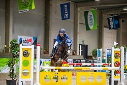 De Roo Lars, BEL, Glitter Golden H<br /> Nationaal Indoor Kampioenschap Pony's LRV <br /> Oud Heverlee 2019<br /> © Hippo Foto - Dirk Caremans<br /> 09/03/2019