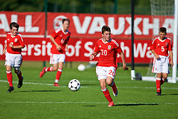 NEWPORT, WALES - Wednesday, July 25, 2018: Joel Cotterill during the Welsh Football Trust Cymru Cup 2018 at Dragon Park. (Pic by Paul Greenwood/Propaganda)